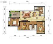 中交锦湾一期3室2厅1卫107平方米户型图