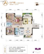 云星・养生城3室2厅2卫105平方米户型图