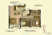 金通玫瑰园 高层3室2厅1卫0平方米户型图