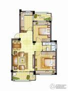 银亿璞园2室2厅1卫88平方米户型图