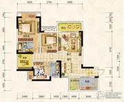 华宇上院0室0厅0卫91平方米户型图