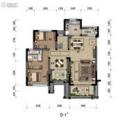 嘉裕第六洲3室2厅2卫139平方米户型图