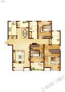 许继天宝盛世花园3室2厅2卫159平方米户型图
