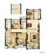 紫金上品苑4室2厅2卫124平方米户型图