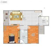 盛世观邸2室1厅1卫89平方米户型图