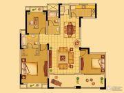 中南世纪花城3室2厅2卫136平方米户型图