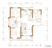 东胜紫御府3室2厅2卫118平方米户型图