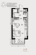 市府・和鸿广场1室1厅1卫50平方米户型图