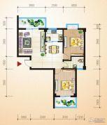 中恒兴・翰林福第2室2厅1卫83平方米户型图