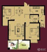 正诚阳光花墅2室2厅1卫94平方米户型图