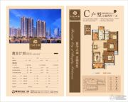 万达华城3室2厅1卫110平方米户型图