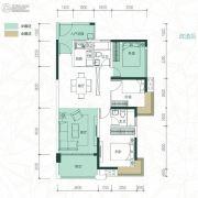 聚龙・天誉湾2室2厅2卫89平方米户型图