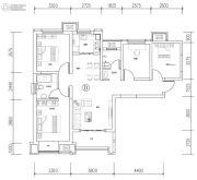 荣民宫园学府4室2厅2卫109平方米户型图
