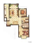山投・城尚城3室2厅1卫106平方米户型图