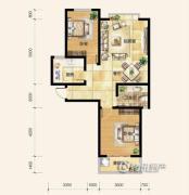 雍和慢城2室2厅1卫0平方米户型图