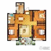 信达银郡3室2厅1卫108平方米户型图