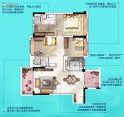 广州挂绿湖碧桂园3室2厅2卫120平方米户型图