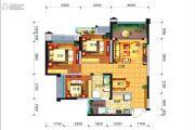远大中央公园3室2厅1卫85平方米户型图