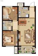 秀兰・禧悦都2室2厅1卫82平方米户型图