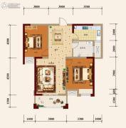 宏维・山水明城・卧龙苑2室2厅1卫88平方米户型图