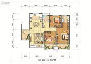 新榕金城湾3室2厅2卫139平方米户型图