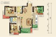 仁美大源印象3室2厅2卫100平方米户型图