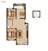 中正公馆2室2厅1卫100--102平方米户型图