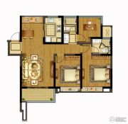 融创玉兰公馆3室2厅2卫105平方米户型图