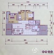 锦嘉汇景城3室2厅1卫0平方米户型图