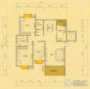 雅士林欣城江岳府3室2厅2卫141平方米户型图