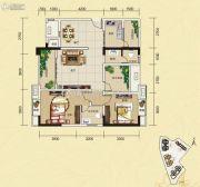 夜月风光・上城2期2室2厅2卫97平方米户型图