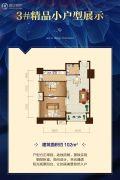 恒大御景半岛2室1厅1卫102平方米户型图