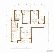 铂悦山3室2厅2卫126平方米户型图