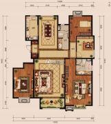 中冶世家4室2厅2卫176平方米户型图