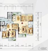东方盛世华苑2室2厅2卫89平方米户型图