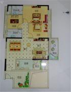 越秀滨海御城3室2厅2卫124平方米户型图