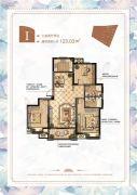 宝信润山・御林3室2厅2卫0平方米户型图
