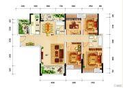 银投乾坤国际城4室2厅2卫140平方米户型图