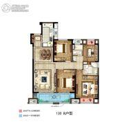 如皋新城悦隽时代4室2厅1卫130平方米户型图
