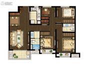 万科海上传奇3室2厅2卫113平方米户型图