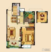 高成天鹅湖2室2厅1卫83平方米户型图