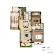 国瑞瀛台1室2厅1卫0平方米户型图