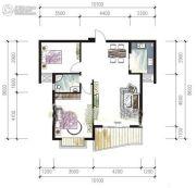 鸿运星城2室2厅1卫84平方米户型图