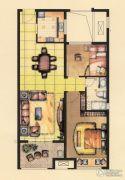 融侨观邸2室2厅1卫85平方米户型图