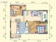 润莱金座2室2厅1卫61平方米户型图