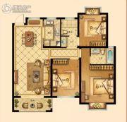 中梁香缇公馆3室2厅2卫109平方米户型图
