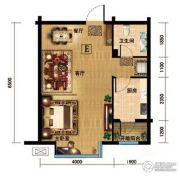 金色河畔1室2厅1卫0平方米户型图