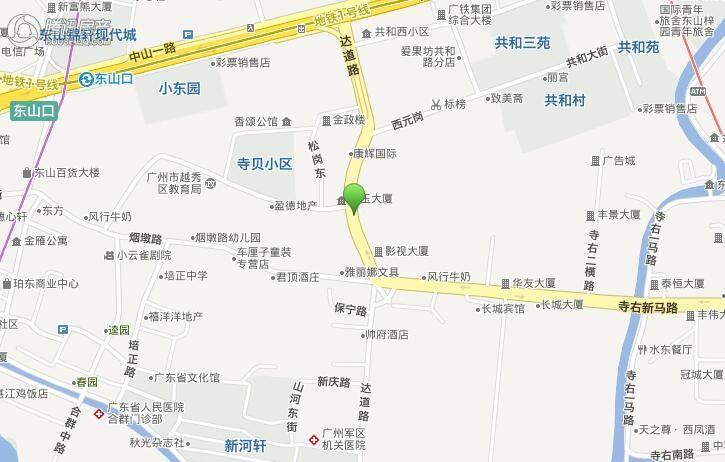 越秀区达道路项目交通图