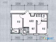 祥和馨筑2室1厅1卫39平方米户型图