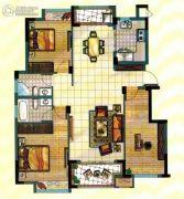 海亮尊园3室2厅2卫120平方米户型图